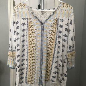 Lucky Brand Peasant style blouse size 1X